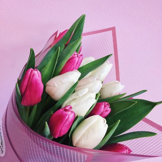 Бело-розовый микс