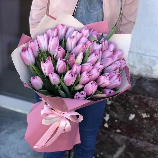 51 тюльпан розовый