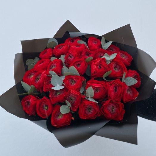 Букет из красных ранункулюсов: букеты цветов на заказ Flowwow