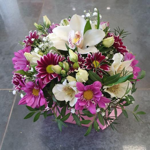 Композиция с орхидейкой: букеты цветов на заказ Flowwow