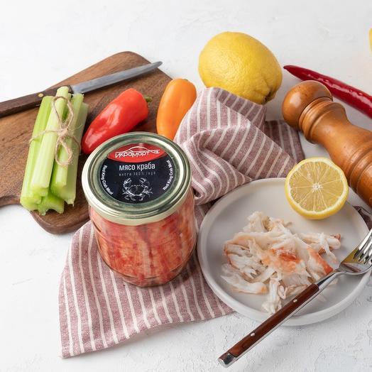 Мясо краба натуральное Премиум, Икрамарт, 580 грамм