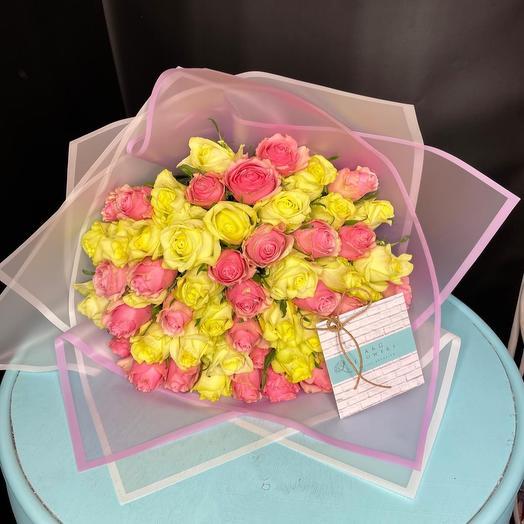 Моно букет из 51 розы