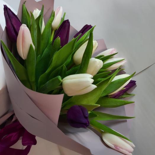 Букет из Тюльпанов «Весенний поцелуй»