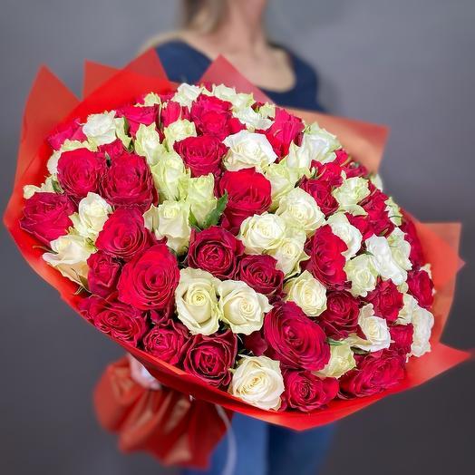 101 роза кения 40 см