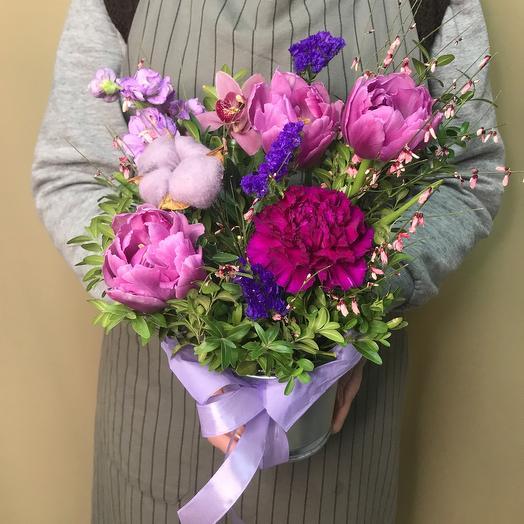 Ведерко с цветами «Мини»