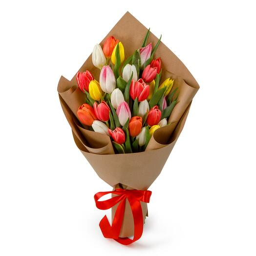 Букет из 25 тюльпанов Апрель