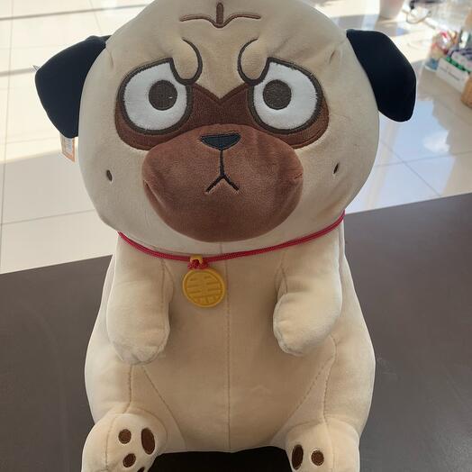 Мягкая игрушка собака Мопс 40см