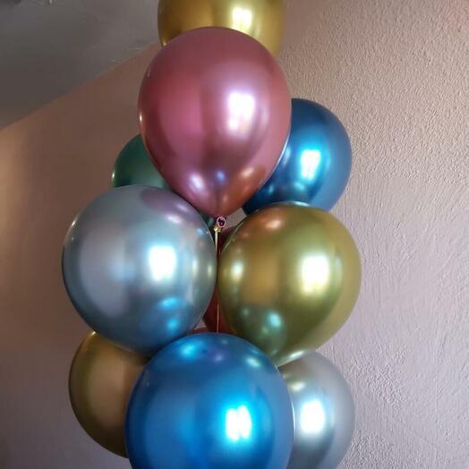 Набор из 9 хромированных шаров