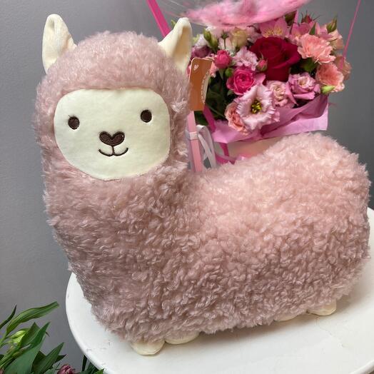 Альпака розовая