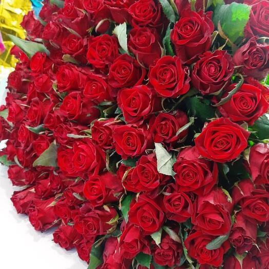 55 роза 90 см