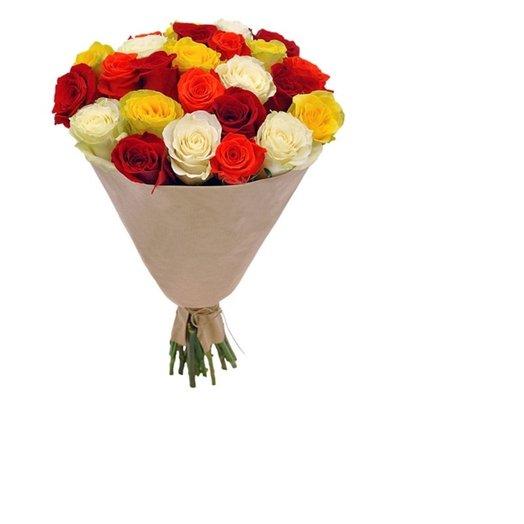 розы в крафте 25шт