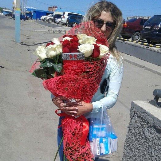 Букет 45 голландские розы: букеты цветов на заказ Flowwow