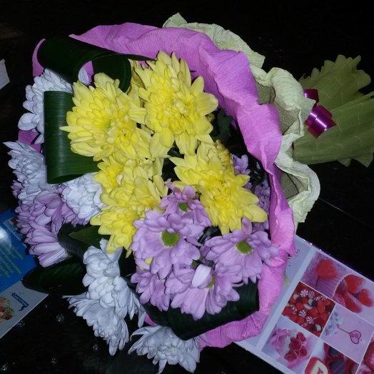 Букет ярких хризантем: букеты цветов на заказ Flowwow