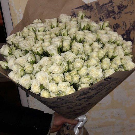 Кустовая роза 49шт: букеты цветов на заказ Flowwow