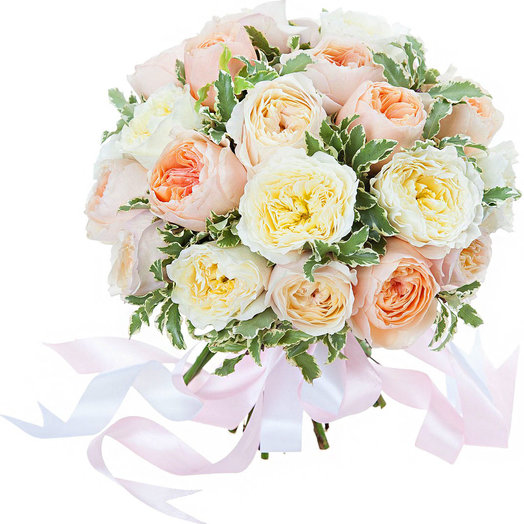 19 Пионовидных Роз: букеты цветов на заказ Flowwow