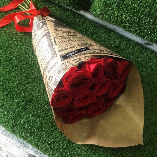 Букет из 15 роз Наоми: букеты цветов на заказ Flowwow