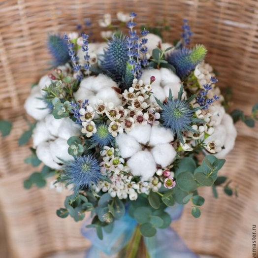 Лаванда и эвкалипт: букеты цветов на заказ Flowwow