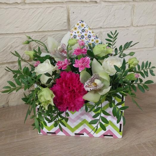 Envelope with orchids: flowers to order Flowwow