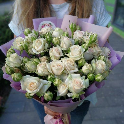 9 кустовых роз Баблз