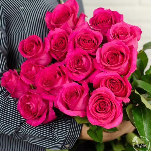 15 роз Pink Floyd (Эквадор): букеты цветов на заказ Flowwow