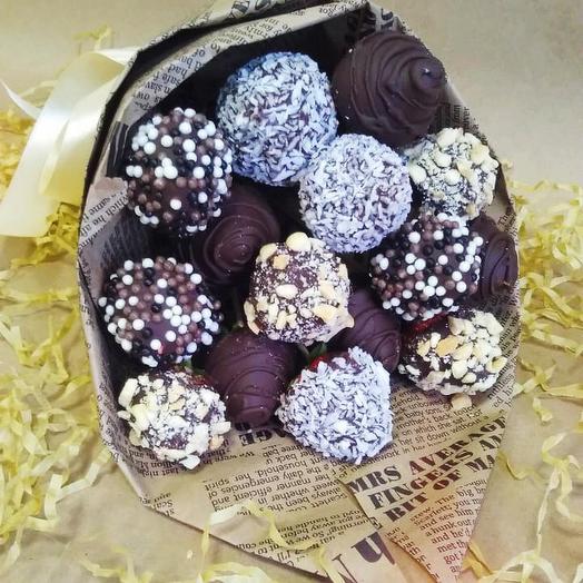 Клубничный букет «сладость»: букеты цветов на заказ Flowwow
