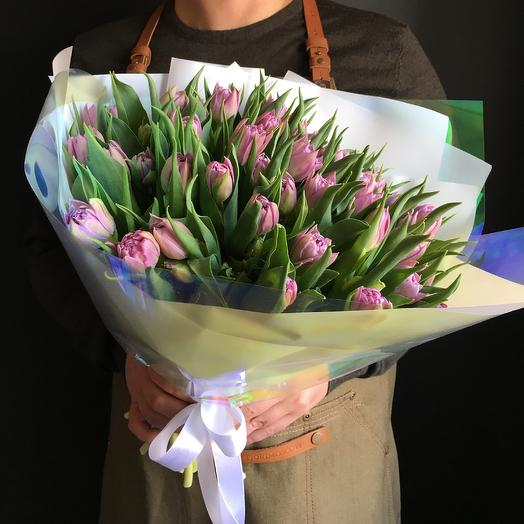 Моно букет пионовидных тюльпанов: букеты цветов на заказ Flowwow
