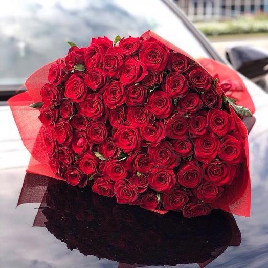 """""""Букет из 101 роз"""": букеты цветов на заказ Flowwow"""