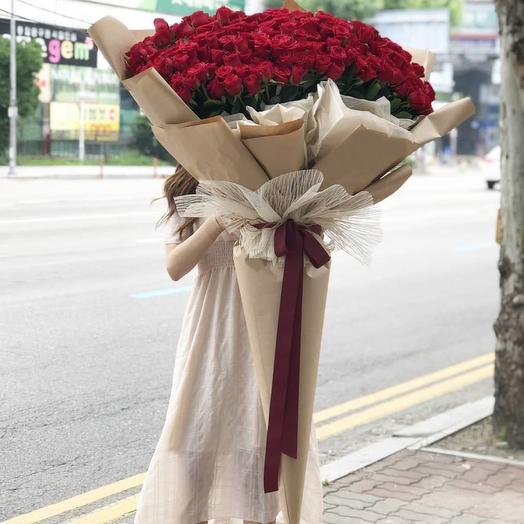 """Букет """" Богема"""" из 151 красной розы"""