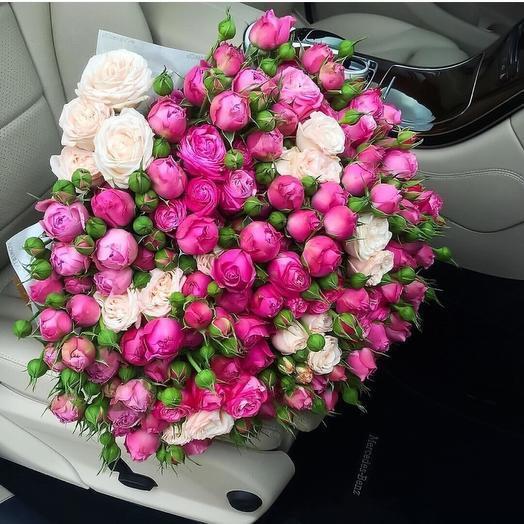 Букет из Пионовидной: букеты цветов на заказ Flowwow