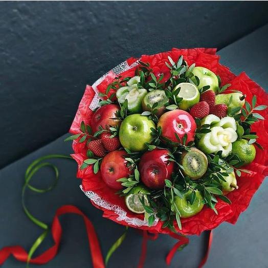 Фруктовый букет «Возраждение»: букеты цветов на заказ Flowwow