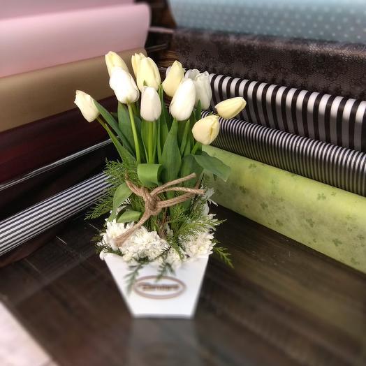 Грядка белая: букеты цветов на заказ Flowwow