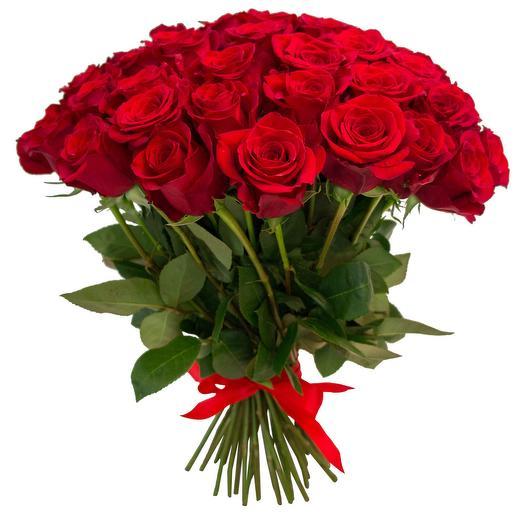 "Букет из 55 роз ""Самой яркой"": букеты цветов на заказ Flowwow"