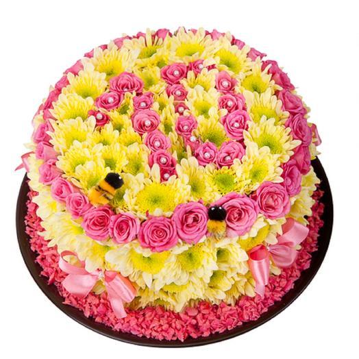 Цветочный тортик: букеты цветов на заказ Flowwow