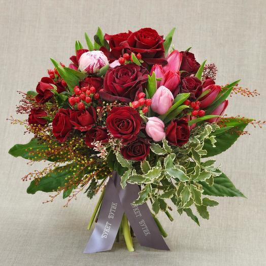 """Большой букет """"Амур и Психея"""": букеты цветов на заказ Flowwow"""