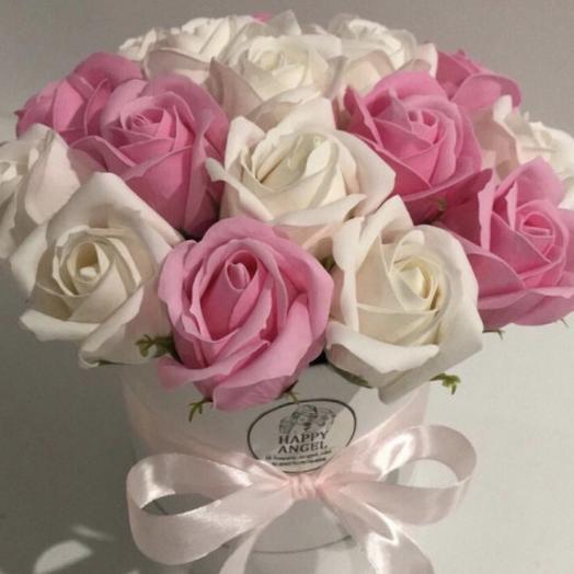Нежность.Роза из мыла