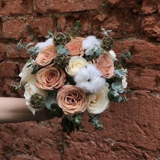 """Букет невесты """"Кофейное сердце"""": букеты цветов на заказ Flowwow"""