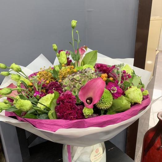 Малиновый круг: букеты цветов на заказ Flowwow