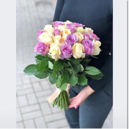25 роз Кения 42 см