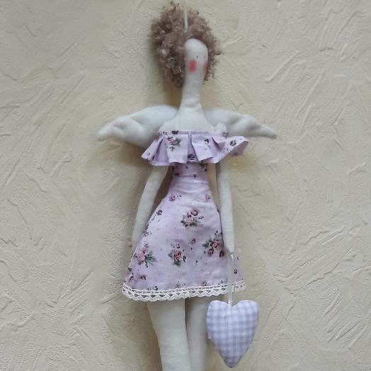 """Мягкая игрушка """"Ангел с сердцем"""": букеты цветов на заказ Flowwow"""