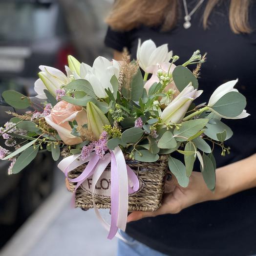 Корзинка Ароматная: букеты цветов на заказ Flowwow