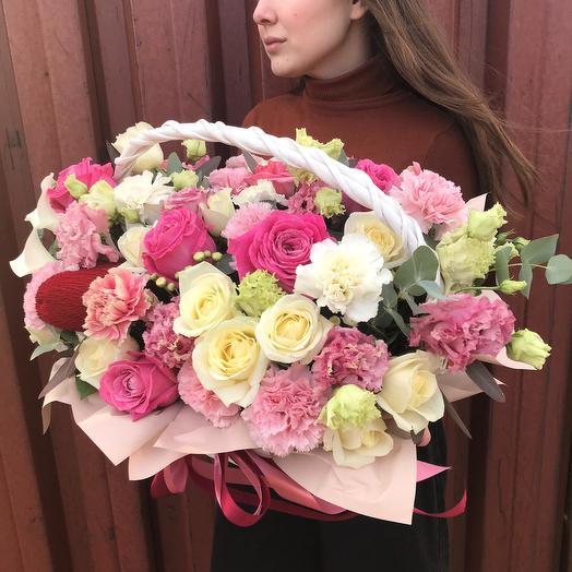 """Цветы в корзине """"Amore"""""""