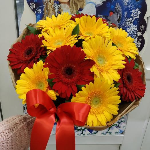 """Яркий букет из гербер """"Хорошее настроение"""": букеты цветов на заказ Flowwow"""