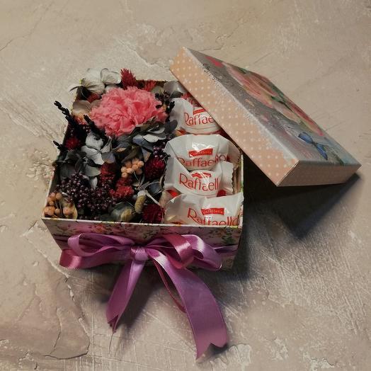 Коробочка с стаб.цветами