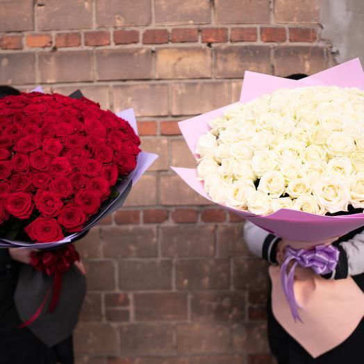 Двойное счастье: букеты цветов на заказ Flowwow