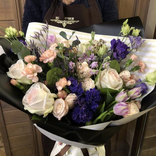 """большой букет из  цветов """"Весеннее послание"""""""