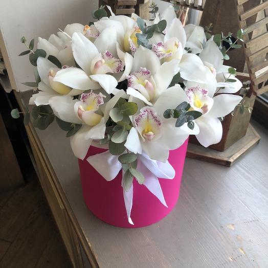 """Коробка из  орхидей """"Милка """""""