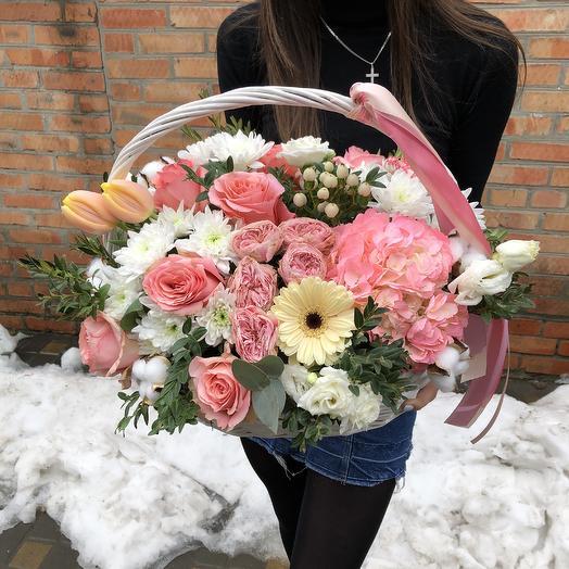 Корзина любви ️: букеты цветов на заказ Flowwow