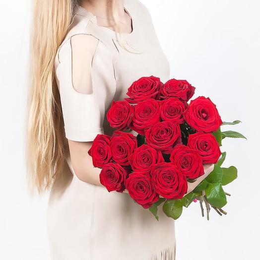 Красная роза 15шт