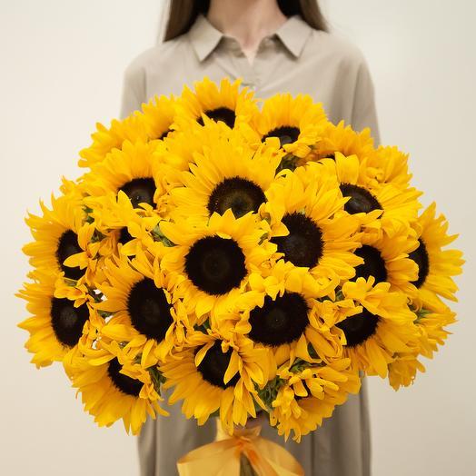 21 весений подсолнух: букеты цветов на заказ Flowwow