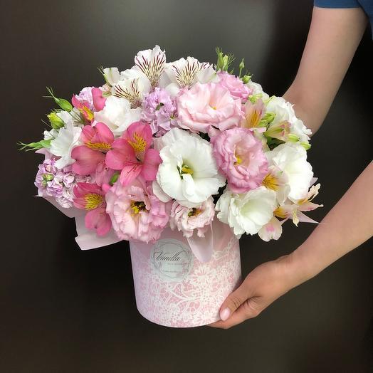 Нежный стильный бокс: букеты цветов на заказ Flowwow